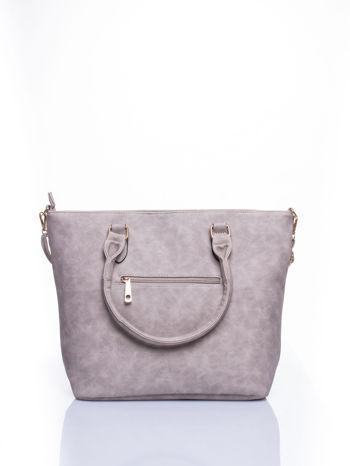 Beżowa torba city bag na ramię                                  zdj.                                  2