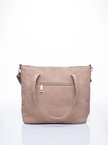 Beżowa torba shopperka z odczepianym paskiem                                   zdj.                                  3