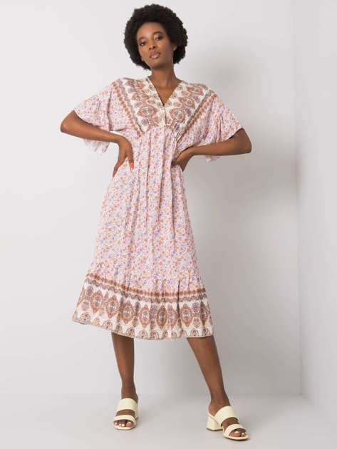 Beżowa wzorzysta sukienka Selkie