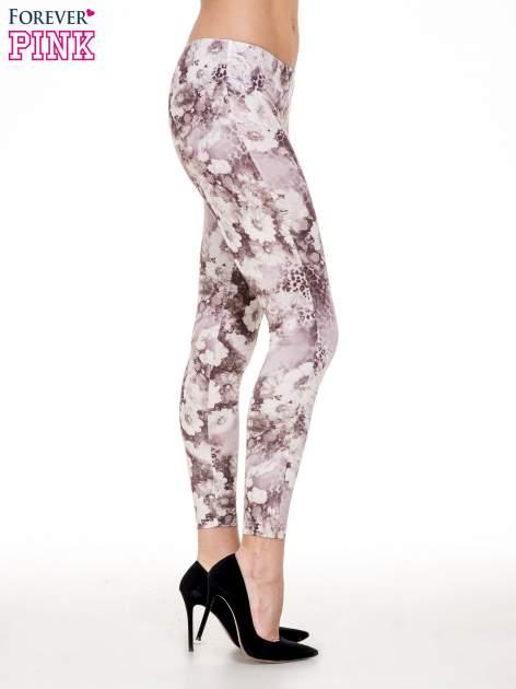 Beżowe legginsy w kwiaty                                  zdj.                                  3