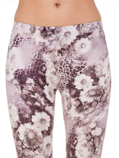 Beżowe legginsy w kwiaty                                  zdj.                                  6