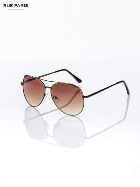Beżowe pilotki -okulary przeciwsłonecznei typu AVIATOR filtry UV,normy CE                                  zdj.                                  3