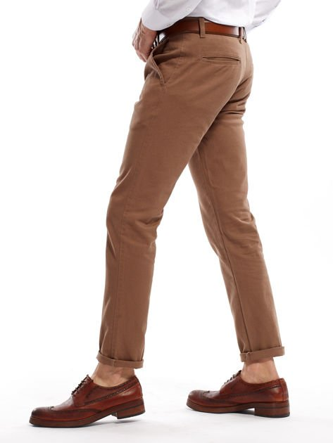 Beżowe spodnie męskie chinos                                  zdj.                                  12