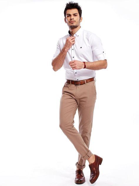Beżowe spodnie męskie chinosy                              zdj.                              5