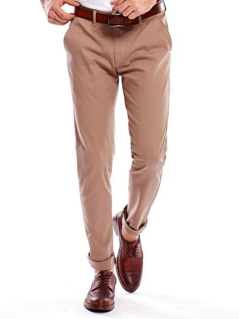 Beżowe spodnie męskie chinosy                              zdj.                              8