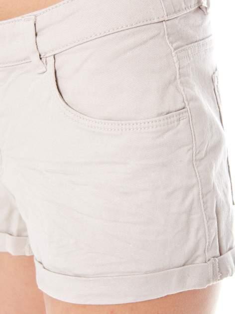 Beżowe szorty z kieszeniami                                  zdj.                                  6