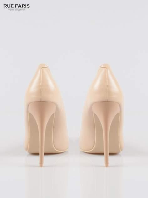 Beżowe szpilki high heels z noskiem w szpic                                  zdj.                                  3
