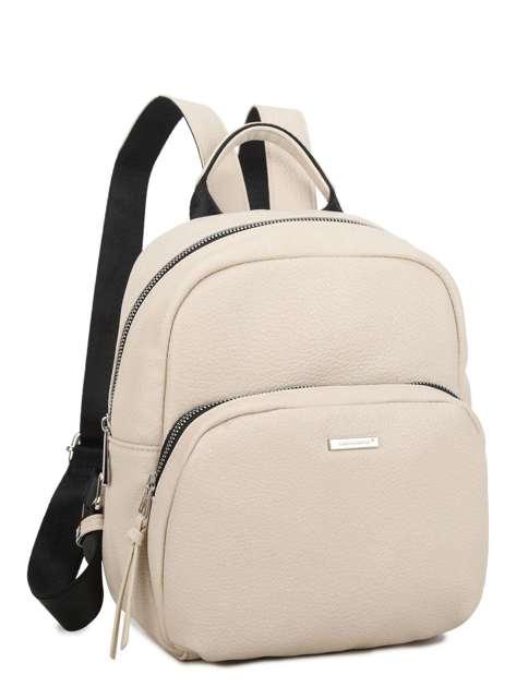 Beżowy plecak z kieszenią LUIGISANTO