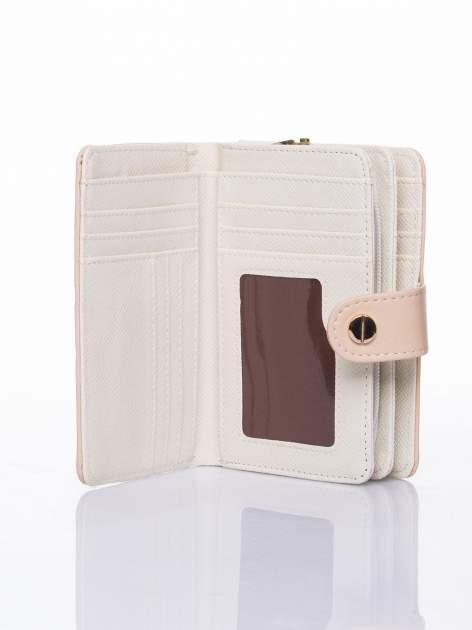 Beżowy portfel z zatrzaskiem                                  zdj.                                  5