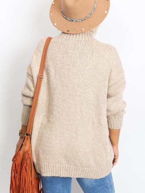 Beżowy sweter plus size Bridge                              zdj.                              2