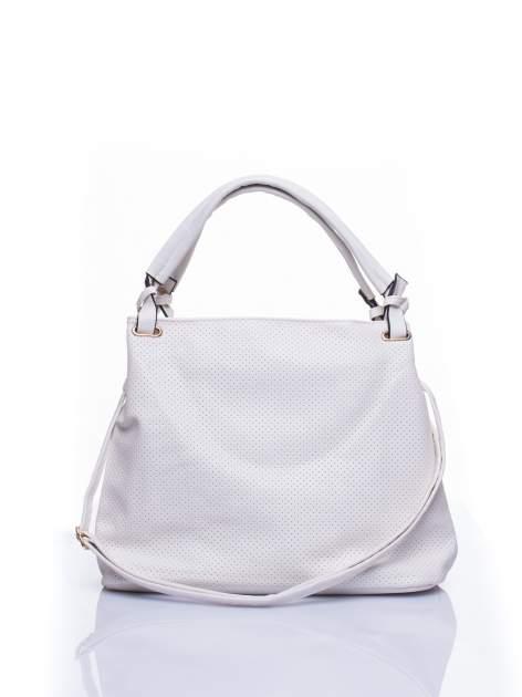 Biała ażurowa torba na ramię                                  zdj.                                  1