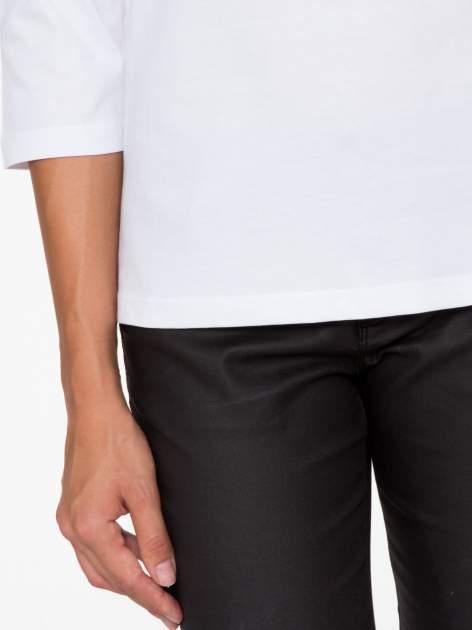 Biała basicowa bluzka z rękawem 3/4                                  zdj.                                  7