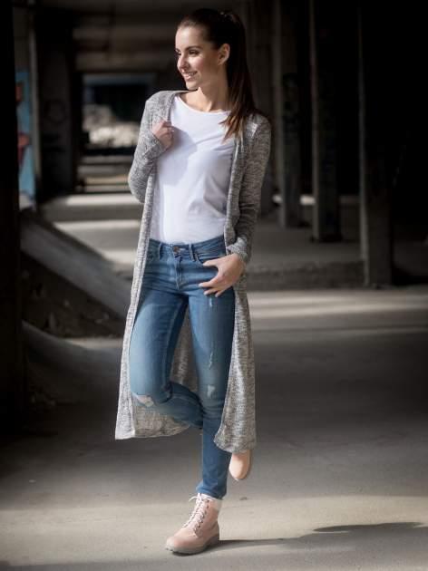 Biała bawełniana bluzka typu basic z długim rękawem                                  zdj.                                  10