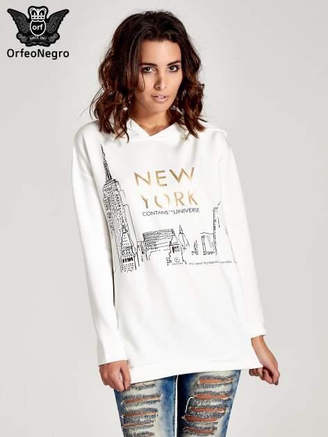 Biała bluza z nadrukiem NEW YORK