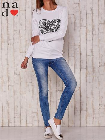 Biała bluza z nadrukiem serca                                  zdj.                                  2