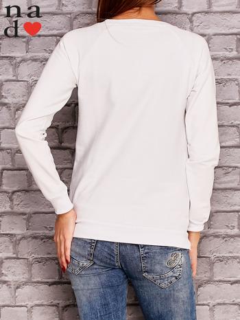 Biała bluza z napisem CHCĘ PSOCIĆ                                  zdj.                                  2