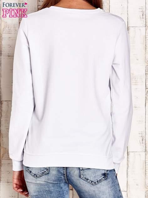 Biała bluza z napisem CITY GIRL                                  zdj.                                  2