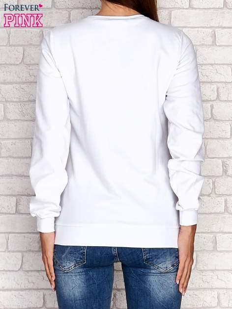 Biała bluza z napisem GLITTER SPARKLE SHINE                                  zdj.                                  2