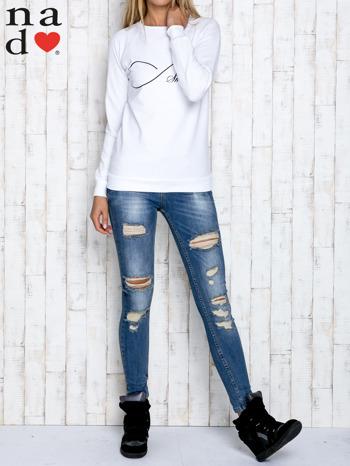 Biała bluza z napisem SMILER                                  zdj.                                  2