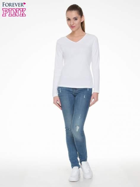 Biała bluzka z długim rękawem z bawełny                                  zdj.                                  2