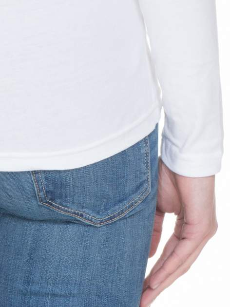 Biała bluzka z długim rękawem z bawełny                                  zdj.                                  8