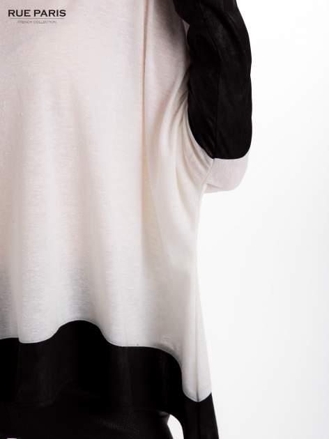 Biała bluzka z kontrastowymi wstawkami                                  zdj.                                  8