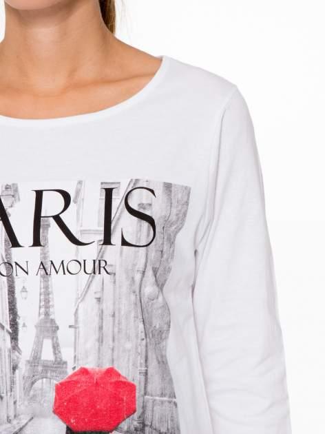 Biała bluzka z motywem Paryża                                  zdj.                                  6