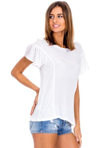 Biała bluzka z szerokimi rękawami                              zdj.                              3