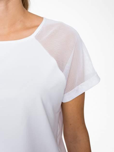 Biała bluzka z transparentnymi rękawkami                                  zdj.                                  6
