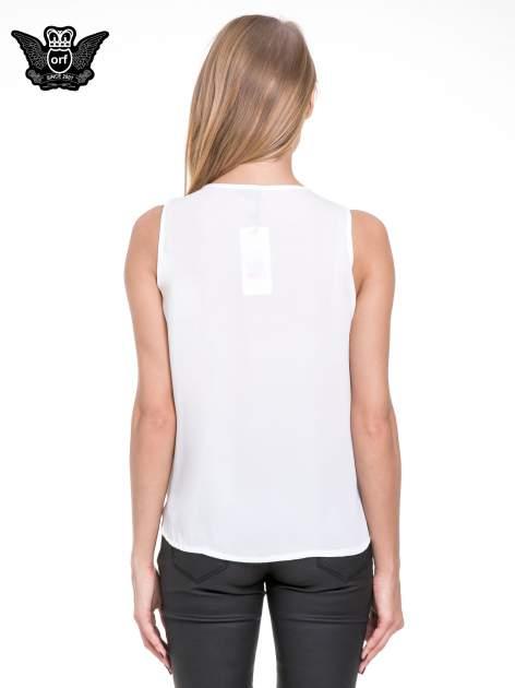Biała elegancka koszula z żabotem                                  zdj.                                  4