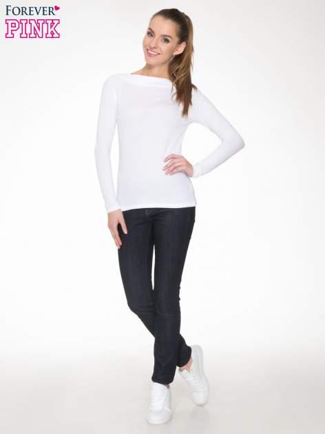 Biała gładka bluzka z reglanowymi rękawami                                  zdj.                                  2