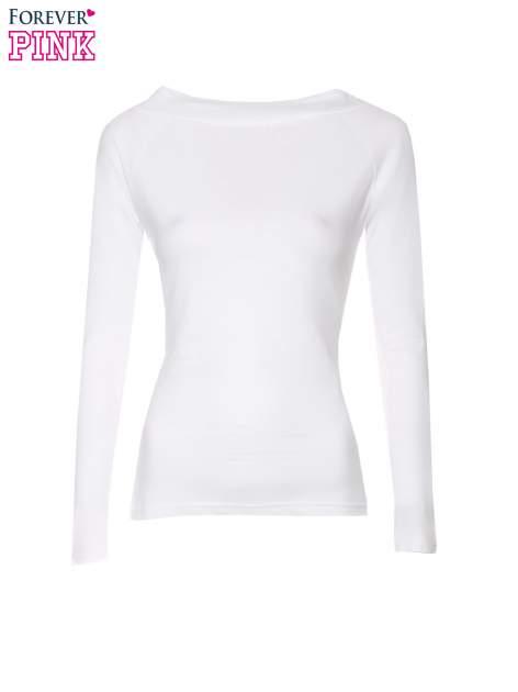 Biała gładka bluzka z reglanowymi rękawami                                  zdj.                                  5