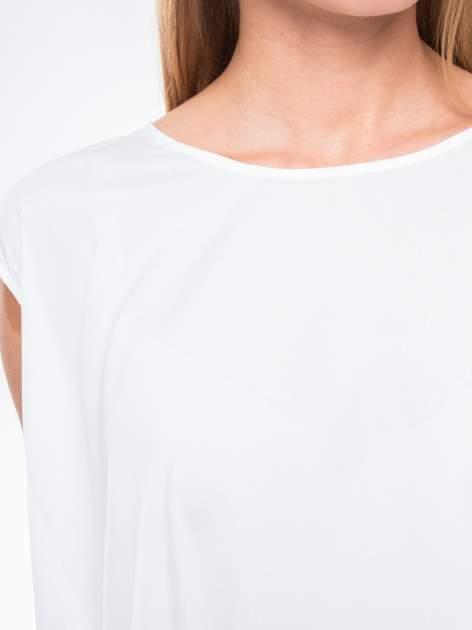 Biała koszula dzwonek z wydłużanym tyłem                                  zdj.                                  6