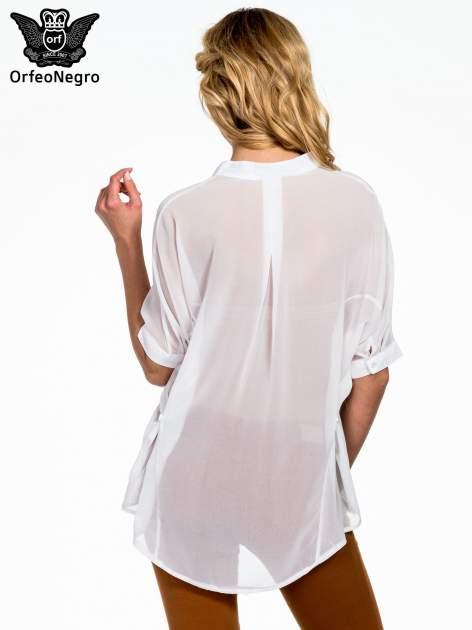Biała koszula mgiełka z kieszonkami                                  zdj.                                  4