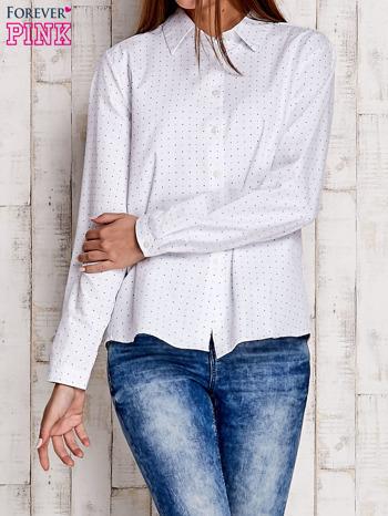 Biała koszula motyw gwiazdek                              zdj.                              1