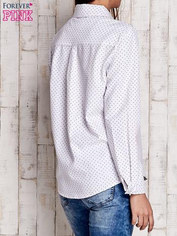 Biała koszula w drobne listki                                  zdj.                                  2