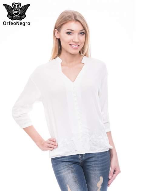 Biała koszula w stylu boho z kwiatowym haftem                                  zdj.                                  1