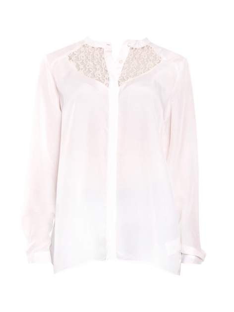 Biała koszula z koronkowym żabotem w stylu wiktoriańskim                                  zdj.                                  1