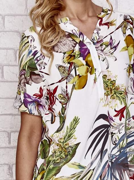 Biała koszula z kwiatowym nadrukiem                                  zdj.                                  5