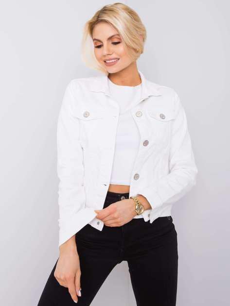 Biała kurtka jeansowa Kaylah RUE PARIS