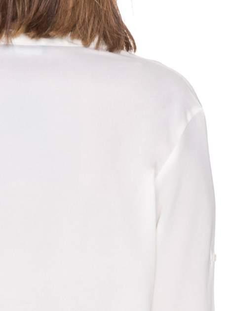 Biała minimalistyczna koszula z trójkątnym dekoltem                                  zdj.                                  7