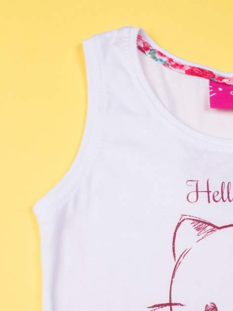 Biała piżama dla dziewczynki z różanymi motywami HELLO KITTY                                  zdj.                                  5