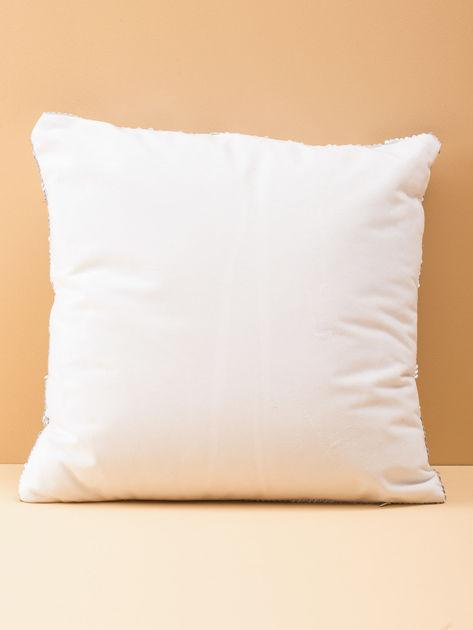 Biała poduszka z cekinami                               zdj.                              3