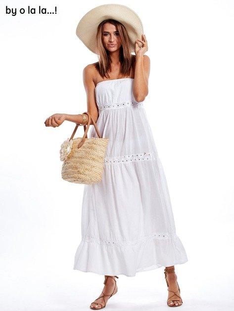 Biała sukienka maxi BY O LA LA                               zdj.                              4