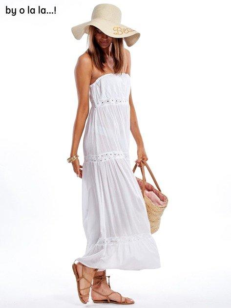 Biała sukienka maxi BY O LA LA                               zdj.                              8