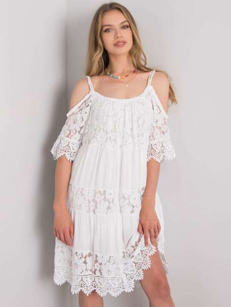 Biała sukienka z koronką Fiona OCH BELLA