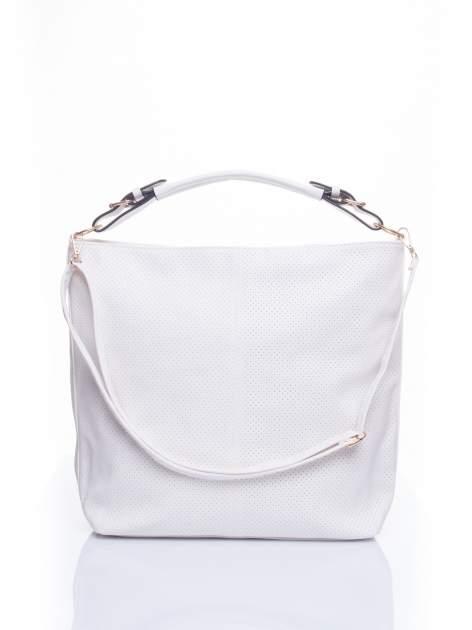 Biała torba damska hobo
