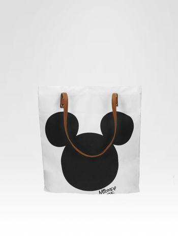 Biała torba shopper bag z motywem Mickey Mouse                                  zdj.                                  1