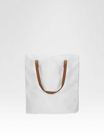 Biała torba shopper bag z motywem Mickey Mouse                                  zdj.                                  4