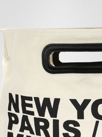 Biała torba shopper bag z printem                                  zdj.                                  7